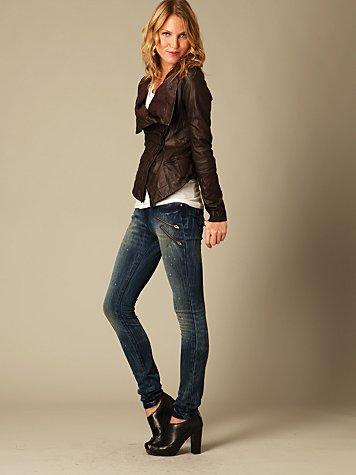 Blank Splatter Paint Skinny Jean