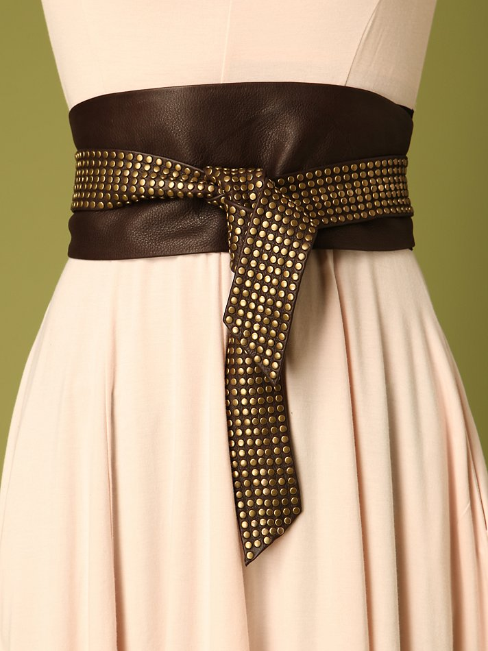 Free People Clothing Boutique > Leather Studded Sash Belt :  fashion leather free people accessories