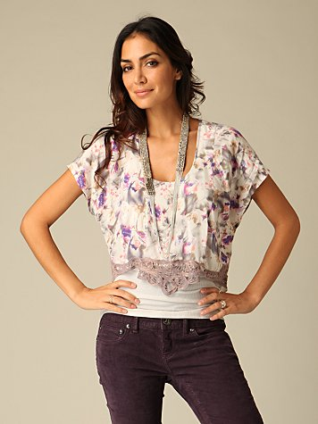 Iridesse Crop Front Top