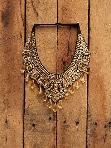 Free People Topaz Bib Necklace