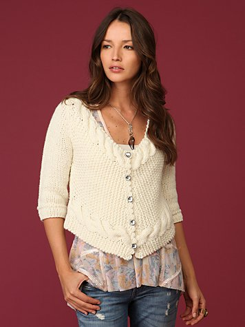 Twisted Cardigan :  fashion style knit sweater
