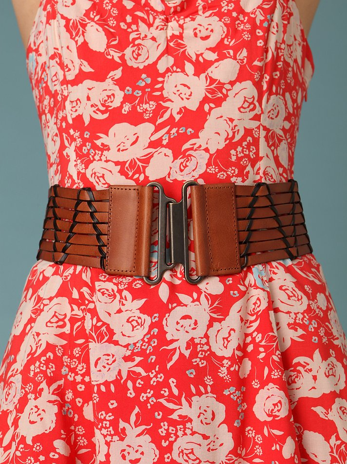 Free People Clothing Boutique > Woven Leather Stretch Waist Belt