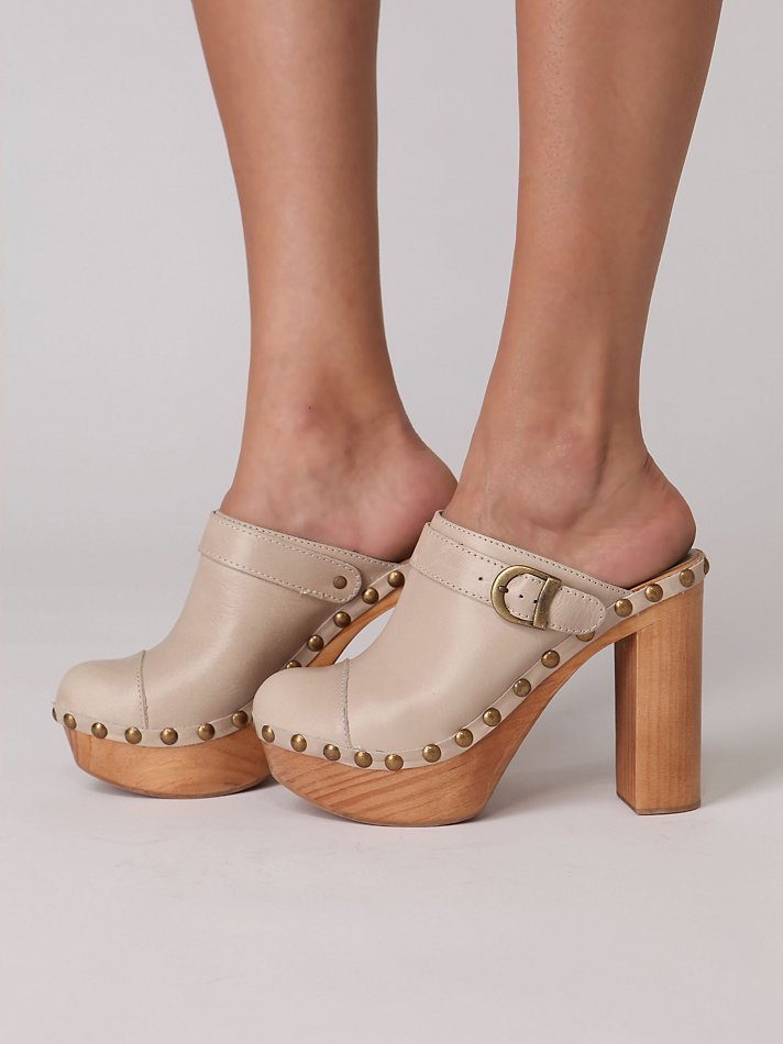 Charli Platform Clog at Free People Clothing Boutique :  platform leather jeffrey campbell chanel clogs