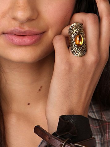 Yellowstone Flower Cuff Ring at Free People Clothing Boutique from freepeople.com
