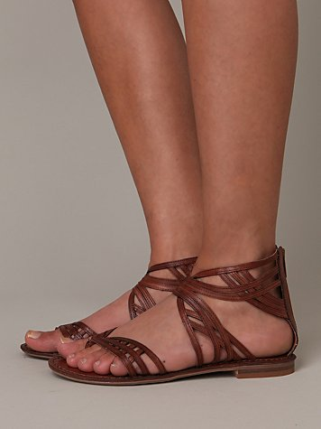 Peace Sandal at Free People Clothing Boutique :  rounded toe gray grey brown