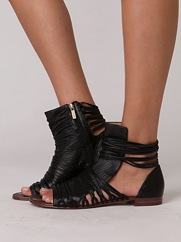 Promised Strappy Sandal at Free People Clothing Boutique :  rounded toe zipper womens summer
