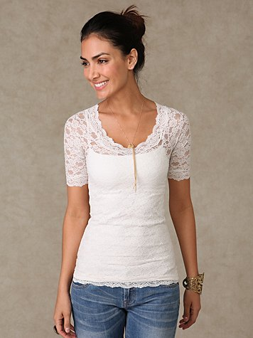 3/4 Sleeve Scandalous Lace Top