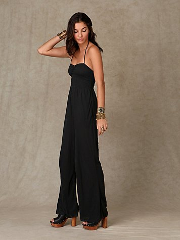 Fes Romper at Free People Clothing Boutique :  pants fashion black romper