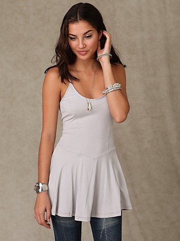 Solid Ballet Tunic at Free People Clothing Boutique :  blue cami fashion top