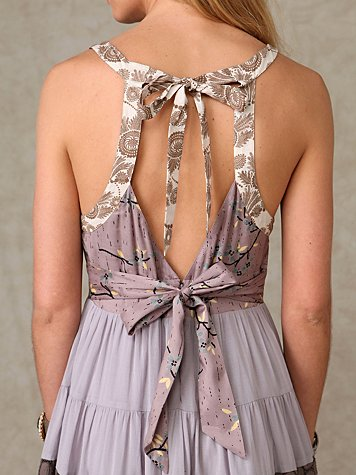 Tangier Tiers Dress at Free People Clothing Boutique :  tiered halter dress taupe monochromatic straps