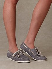 Perforated Leather Boat Shoe at Free People Clothing Boutique :  boat shoe footwear jeffrey campbell boatshoe