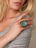 Turquoise Dot Disc Ring