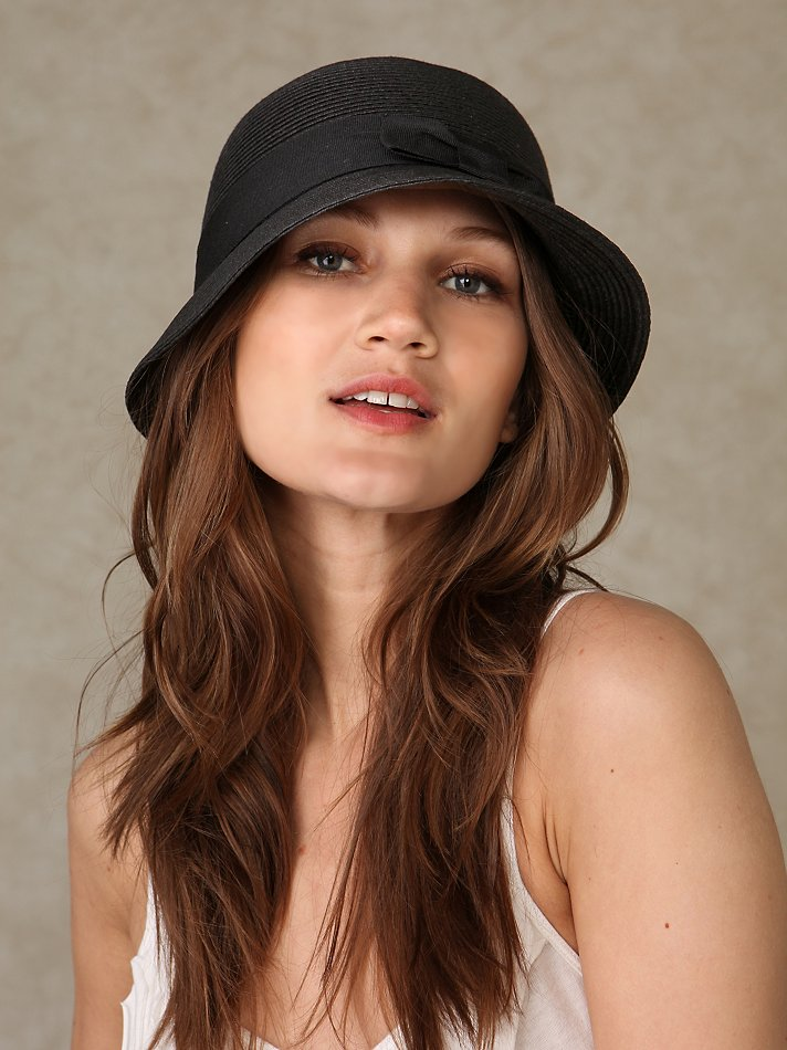 Kate's Tipped Cloche at Free People Clothing Boutique :  recession chic hat tipped summer