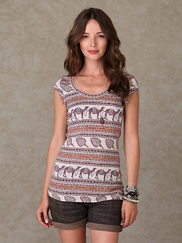 Short Sleeve Scoop Front Tunic
