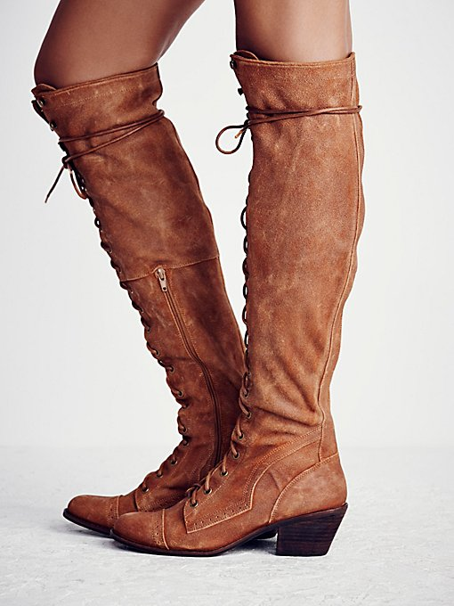 Jeffrey Campbell Joe Lace Up Boot in Knee-High-Boots