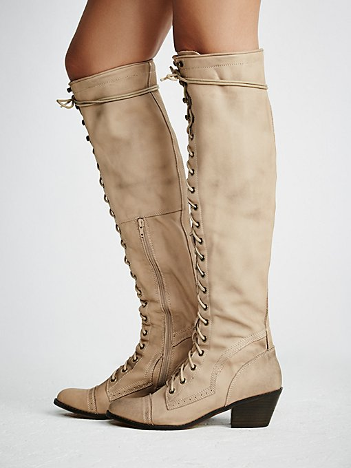 Joe Lace Up Boot in shoes-boots-tall-boots