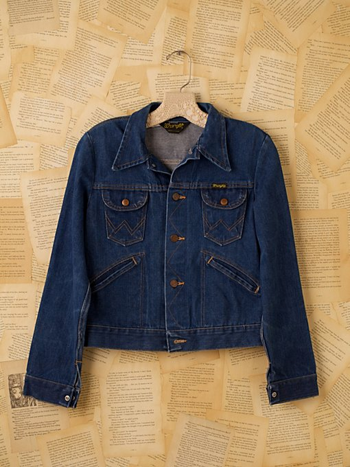 Free People Vintage Wrangler Jean Jacket in Vintage-Clothing