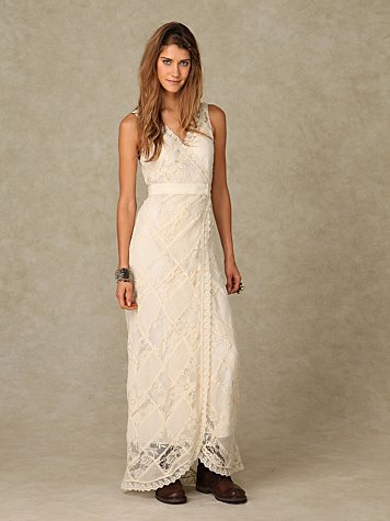 Lace Maxi Patchwork Dress at Free People Clothing Boutique