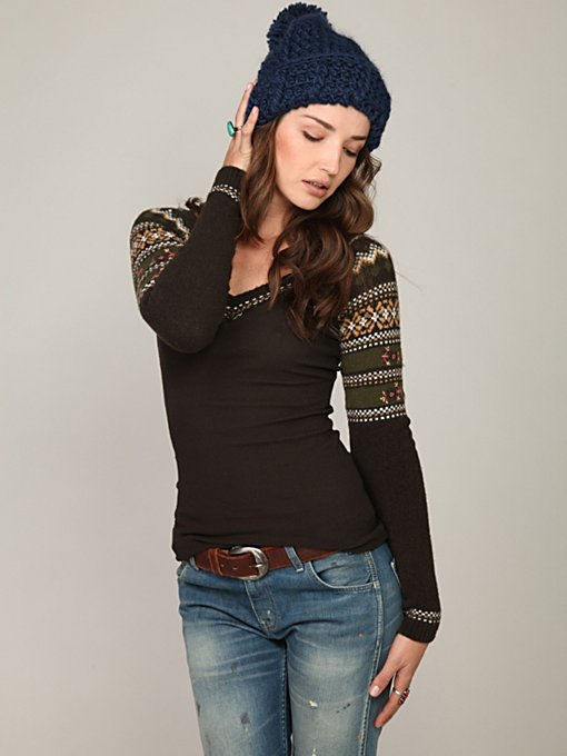 We The Free Fairisle Sweater Sleeve Thermal
