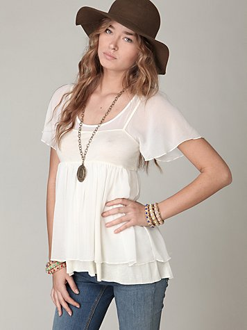 Short Sleeve Babydoll Tunic