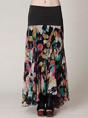 FP-1 Desert Florals Maxi Skirt