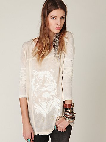 Graphic Pullover at Free People Clothing Boutique