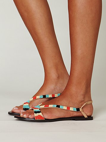 Nyle Bead Sandal at Free People Clothing Boutique from freepeople.com