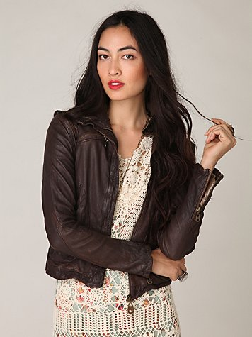 Doma Convertible Leather Jacket