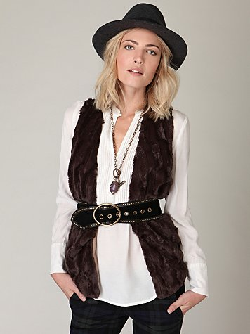 Battalion Faux Fur Vest
