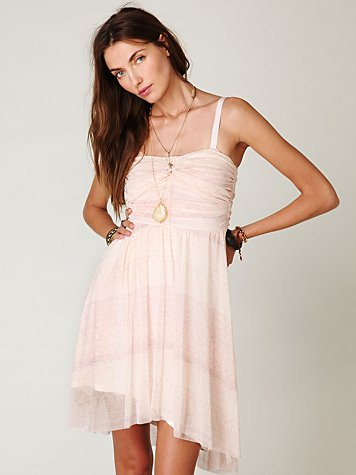 Free People - Watercolor Tube Dress :  free people watercolor tube dress day free people dresses