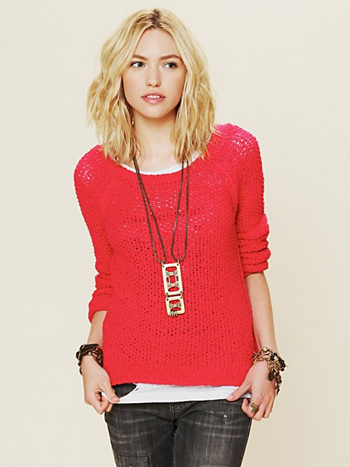 Free People Marled Yarn Pullover in pullovers