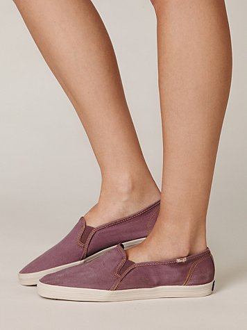 keds womens leather slip ons