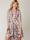 FP ONE Plaid Shirt Dress