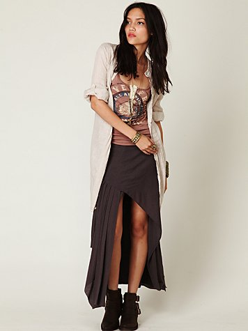 FP-1 Side Slit Maxi Skirt