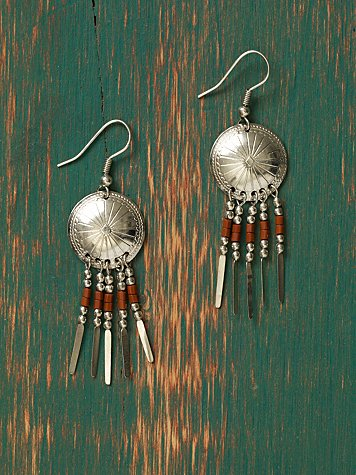 Concho Drop Earrings