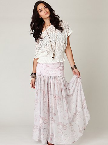 Morning Glory Chiffon Skirt