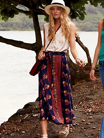 Cantina Wrap Maxi Skirt at Free People Clothing Boutique from freepeople.com