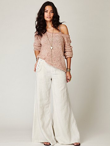 Wideleg Linen Sailor Pant