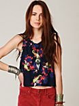 FP ONE Sleeveless Floral Crop Top