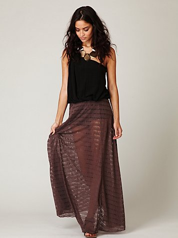 Ripped Up Maxi Skirt