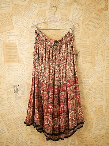 Vintage Indian Printed Long Skirts at Free People Clothing Boutique :  vintage skirt vintage loves vintage maxi skirt