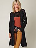 Sheer Stripe Long Cardigan