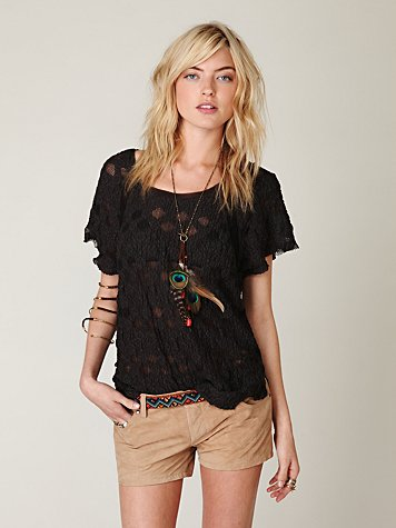 Blank Suede Short at Free People Clothing Boutique :  suede blank bottoms shorts