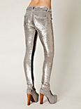 Distressed Sequin Pants