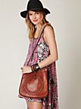 Medallion Leather Shoulder Bag