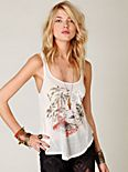 We the Free Graphic Strappy Back Tank