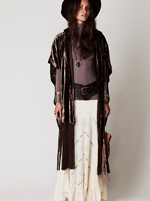 Fringe Hooded Jacket