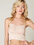Rib and Lace Crop Cami