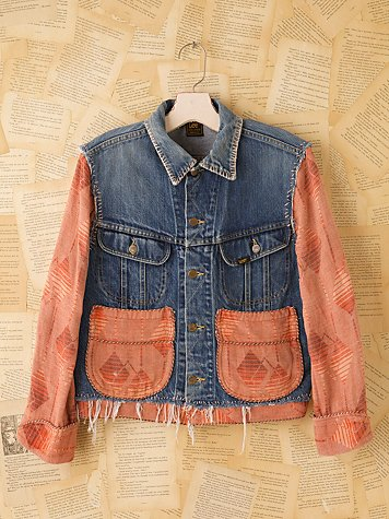 Vintage Lee Beacon Blanket Jacket at Free People Clothing Boutique :  vintage loves denim jacket vintage jean jacket