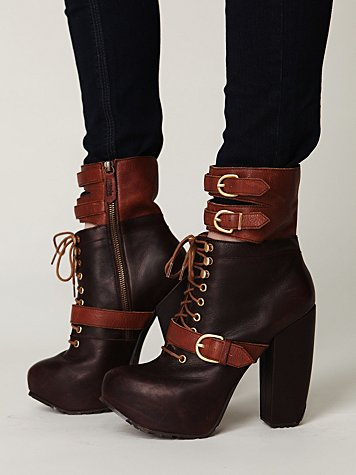 Andee Platform Buckle Boot